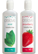 Oralove Delicious Duo Lickable Strawberry And Mint Lubes 1...